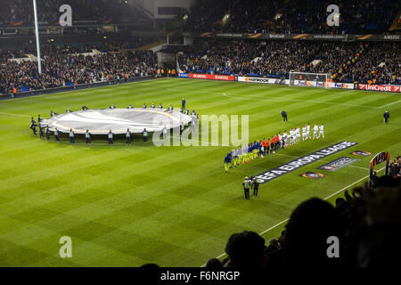 Tottenham Hotspur v R.S.C. Anderlecht in the group stages of the Europa League at White Hart Lane, London, UK, 5th - Stock Photo