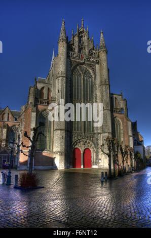 This Gothic Church is Hooglandse Kerk, Leiden. - Stock Photo