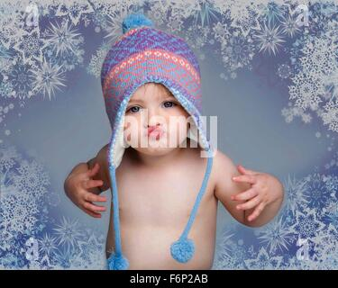 Christmas baby with attitude - Stock Photo