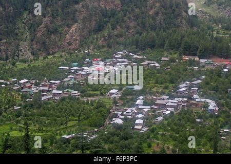 SPITI VALLEY - Kinnaur village view Himachal Pradesh, India - Stock Photo