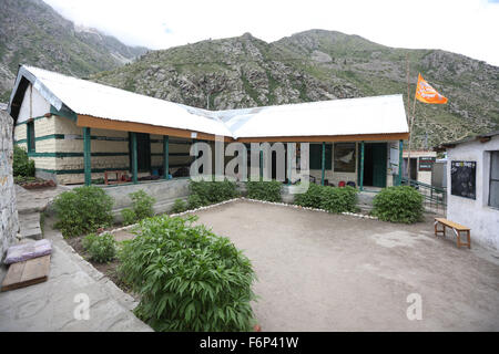 SPITI VALLEY - School in Chitkul Village Last inhabited village near the Indo-China border Himachal Pradesh , India - Stock Photo