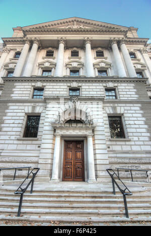 The Treasury building.  Whitehall. Tax office.   Government tax building - Stock Photo