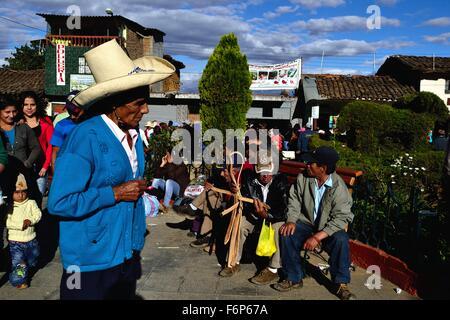 Plaza de Armas in AYABACA . Department of Piura .PERU - Stock Photo