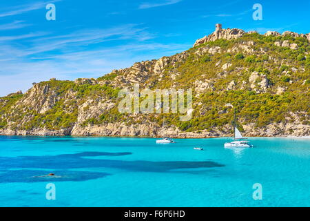 Roccapina Beach, Golfe de Roccapina, South-West Coast, Corsica Island, France - Stock Photo