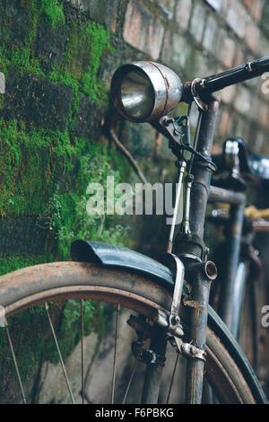 Old bike in Kerala, India - Stock Photo