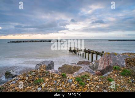 Winter Middleton on sea - Stock Photo