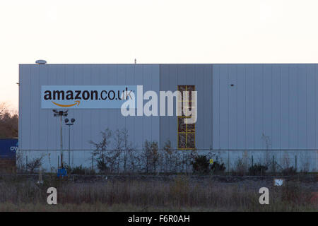 The Amazon fulfillment centre warehouse in Swansea, South Wales. - Stock Photo