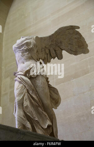 Hellenistic style. Winged Victory of Samothrace. 2nd century BC. Marble. Louvre Museum. Paris. France. - Stock Photo