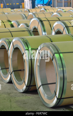 sheet rolls in warehouse - Stock Photo