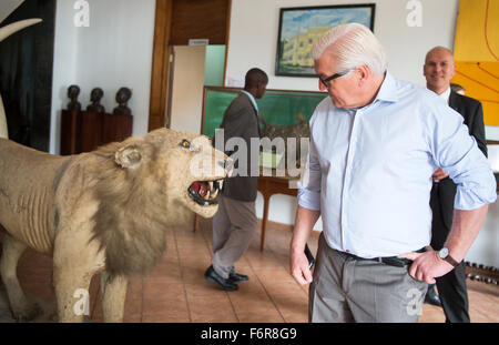 German Minister of Foreign Affairs Frank-Walther Steinmeier visits the Natural History Museum in Maputo, Mozambique, - Stock Photo