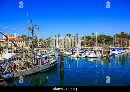 Fishing boats santa barbara harbor california usa stock for Santa barbara fishing