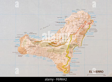 Island of El Hierro Canary Islands Spain Flora fauna Young