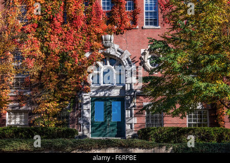 Ivy covered Wilder Hall, Dartmouth University, Hanover, New Hampshire, USA - Stock Photo