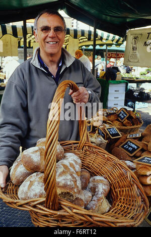 Artisan bread stall. Louth market. Lincolnshire. England. UK. Europe - Stock Photo