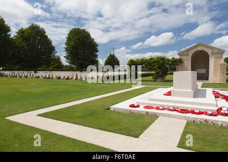 The British cemetery at Bayeux in the Clavados department of Normandy - Stock Photo