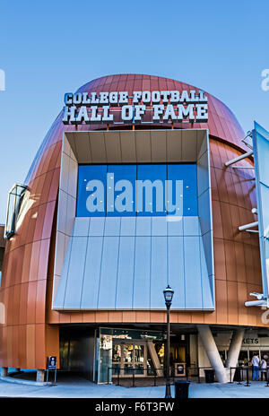 College Football Hall of Fame, Atlanta, Georgia, USA - Stock Photo