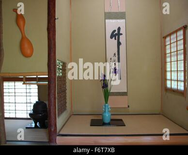 Traditional Japanese Decor the interior of a traditional japanese house with screen doors and