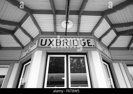 Uxbridge historical station in Ontario, Canada - Stock Photo