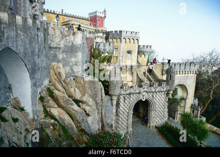 Pena National Palace in Sintra. Portugal. Europe. - Stock Photo
