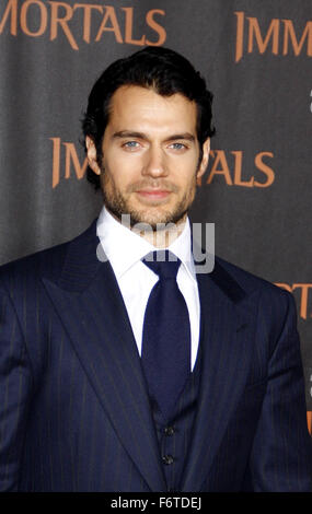 Henry Cavill at the World Premiere of 'Immortals' held at Nokia LA Live in Los Angeles, USA on November 7, 2011. - Stock Photo