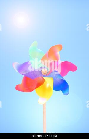 A studio photo of whirligig - Stock Photo