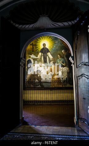 Room of San Martin de Porres in the convent of Santo Domingo in Lima, Peru. - Stock Photo