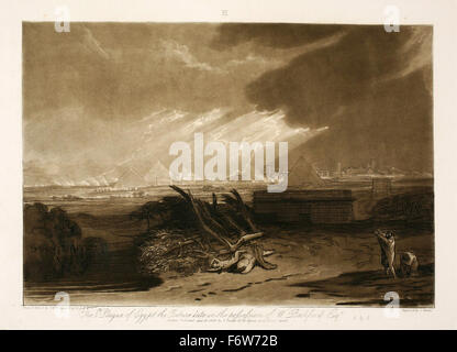 Joseph Mallord William Turner - The Fifth Plague of Egypt - Stock Photo