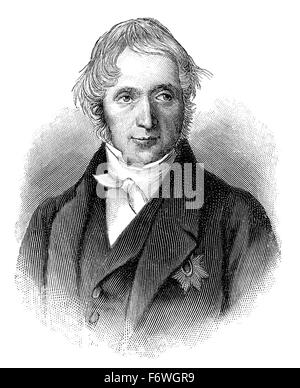 Karl Georg Maassen, 1769 - 1834, a Prussian lawyer, politician and co-founder of the German customs union, Karl - Stock Photo