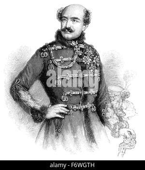 Count Josip Jelačić of Bužim, 1801-1859, the Ban of Croatia between 23 March 1848 and 19 May 1859, - Stock Photo