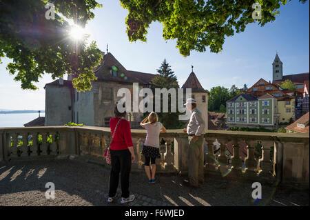 Meersburg castle, Old Castle, Meersburg, Lake Constance, Baden-Württemberg, Germany - Stock Photo