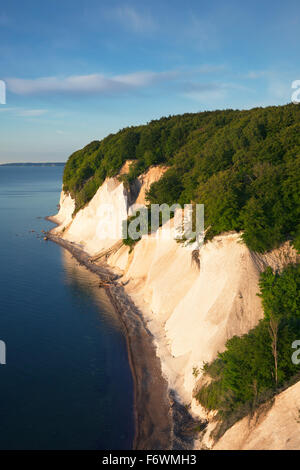 Chalk cliffs, Jasmund National Park, Ruegen island, Baltic Sea, Mecklenburg Western-Pomerania, Germany - Stock Photo