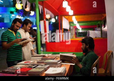 Dhaka, Bangladesh. 20th November, 2015. Dhaka Literary Festival or Dhaka Lit Festival the preeminent international - Stock Photo