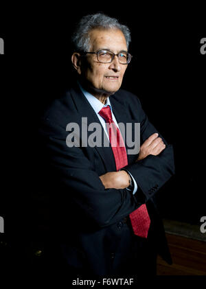 Amartya Sen pictured prior to his lecture 'The Idea of Justice '  at The London Literature Festival, The Southbank - Stock Photo