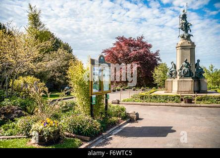 War Memorial at Northernhay Gardens, Exeter, Devon, United Kingdom UK    Kriegsdenkmal in den Northernhay Gardens, - Stock Photo