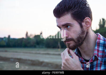 Man shows doubts - Stock Photo