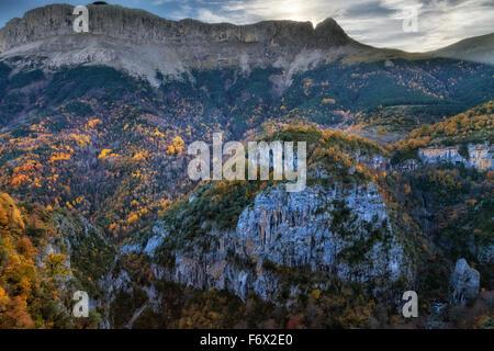 National Park of Ordesa and Monte Perdido. - Stock Photo