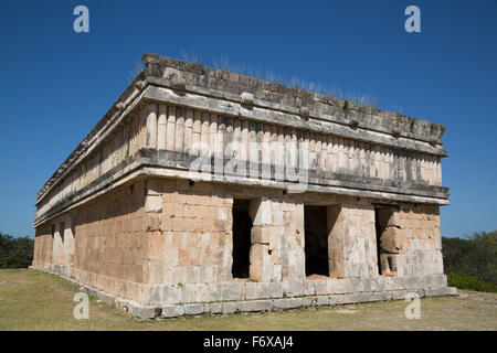 House of the Turtles, Uxmal Mayan archaeological site; Yucatan, Mexico - Stock Photo