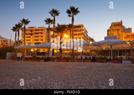 Bar on the beach in Palaio Faliro in Athens, Greece - Stock Photo