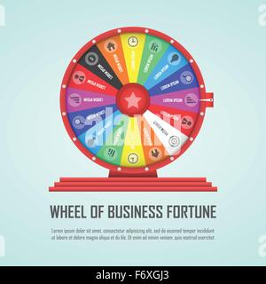 Wheel of fortune infographic design element, VECTOR, EPS10 - Stock Photo