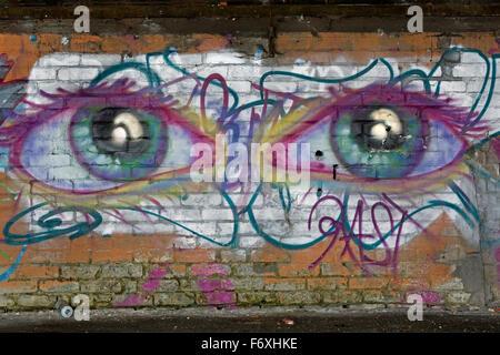Illegal graffiti - Stock Photo