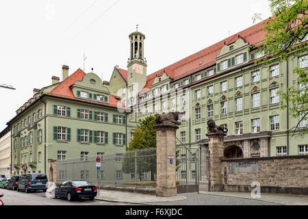 Police Headquarters, Munich, Upper Bavaria, Bavaria, Germany - Stock Photo