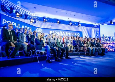 Barcelona, Catalonia, Spain. 21st Nov, 2015. The official presentation of the PP's (People Party) candidates for - Stock Photo