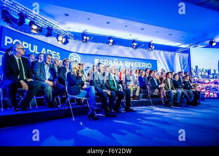 Barcelona, Spain. 21st Nov, 2015. Barcelona, Spain: The official presentation of the PP's (People Party) candidates - Stock Photo