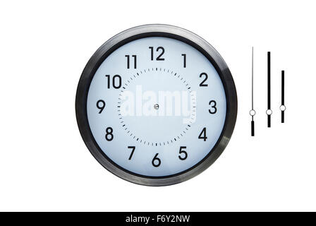 Clock on the wall of time zones for trading around the for Wall clock without hands
