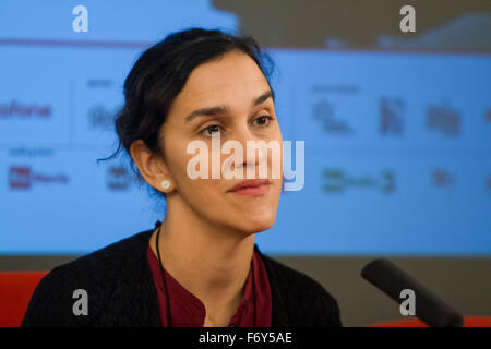Turin, Italy. 21st Nov, 2015. British film director Sarah Gavron during press conference at Torino Film Festival. - Stock Photo