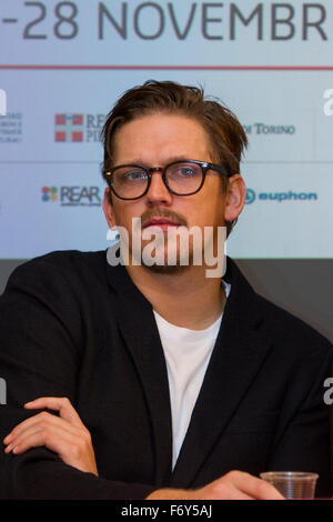 Turin, Italy. 21st Nov, 2015. Film director Jan Ole Gerster attends a press conference at Torino Film Festival. - Stock Photo