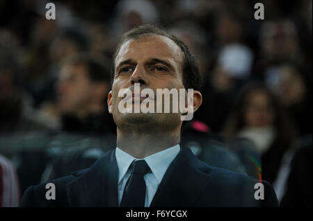 Turin, Italy. 21st Nov, 2015. Serie A Football. Juventus versus AC Milan. Max Allegri, the coach of Juventus Credit: - Stock Photo