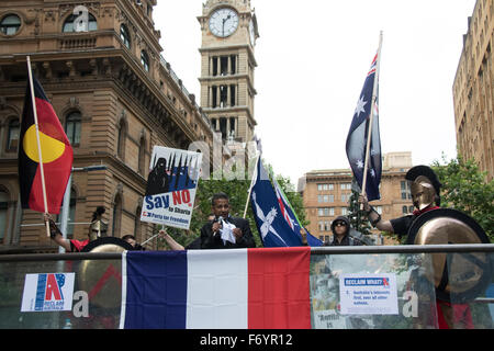 Sydney, Australia. 22nd November 2015. Pictured: Danny Nalliah, leader of the Rise Up Australia Party speaks at - Stock Photo