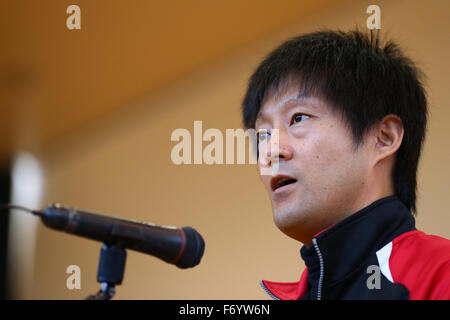 Ohme City general gymnasium, Tokyo, Japan. 21st Nov, 2015. Kyoichi Ichikawa (JPN), NOVEMBER 21, 2015 - Goalball : 2015 Japan Goalball Championships Opening Ceremony at Ohme City general gymnasium, Tokyo, Japan. Credit:  Shingo Ito/AFLO SPORT/Alamy Live News Stock Photo