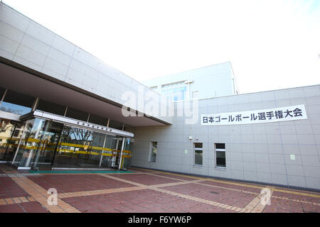 Ohme City general gymnasium, Tokyo, Japan. 21st Nov, 2015. Ohme City general gymnasium, NOVEMBER 21, 2015 - Goalball : 2015 Japan Goalball Championships at Ohme City general gymnasium, Tokyo, Japan. Credit:  Shingo Ito/AFLO SPORT/Alamy Live News Stock Photo